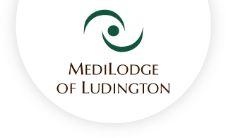 Medilodge of ludington web logo